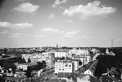Darmstadt from above (mkk707) Tags: film darmstadt blackwhite 35mmfilm leicastandardmodele leitzhektorf28cm163 schwarzweis barnackbabe leicathreadmount ltm itsaleica ilfordhp5 analog vintagelens vintagefilmcamera