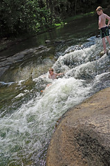 8slidein (FAIRFIELDFAMILY) Tags: jason taylor fairfield county sc south carolina broad river west columbia city rapids water swimming father son carson grant rock rocks adventure explore exploring michelle mother splash running child young boy sliding outside nature kayak kayaking white