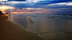 Atmospheric Sunrise (dorameulman) Tags: dorameulman sunrise northmyrtlebeach southcarolina beach beautiful mystical atmospheric sand sea waves ocean sky haiku canon7dmark11 canon poem water wave