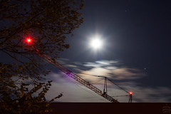 Moon & Saturn / @ 55 mm / 2017-08-03 (astrofreak81) Tags: moon saturn luna mond night sky dresden plane crane