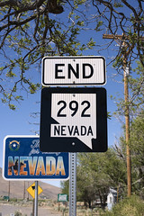 End 292 (Curtis Gregory Perry) Tags: denio nevada highway 292 end stateline state line border blue sky oregon nikon d810 route road
