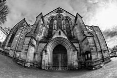 St. Mary's Church (Derwisz) Tags: stmaryschurch church sacralbuilding listedbuilding holy religious sacral gothic gothicarchitecture medieval architecture arch fisheyelens lowviewangle blackwhite blackandwhite scarborough yorkshire england unitedkingdom uk monochrome