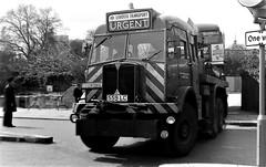 London transport AEC Militant breakdown truck 1456MR at Tower Hill 24/04/76. (Ledlon89) Tags: aec routemaster rm bus buses lt lte london londonbus londonbuses transport londontransport accident towerhill crash breakdowntruck 1970s 1976 damaged damage parkroyal manatador vintagebuses aecmilitant militant