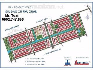 Hot, CC cần bán gấp đất nền KDC Phú Xuân Vạn Phát Hưng, dãy A6, chỉ 20 tr/m2, LH Tuấn 0902.747.696