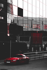 (Rasmus Ink) Tags: car bmw street city reflection building archi architecture red z4
