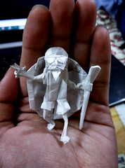 ORIGAMI- Master Roshi !! (Neelesh K) Tags: origami roshi dragon ball z gt old man glasses turtle back tracing paper folding box pleating 40 grids neelesh k