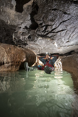 The Green Canal (ChunkyCaver) Tags: danyrogof cave caver caving water spelunking stalagmite stalactite straws