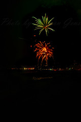 fireworks at Bel-Air bayclub in pacific palisades (morgan@morgangenser.com) Tags: fireworks pacificpalisades bright colorful colors oohahhs excitiing ocean lightup night sky explosions explode gunpower chemicals red yellow green blueorange crowds pacificcoasthighway pch music beachclub belairbeachclub beach sand bicycles surfers population