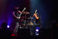 In the Whale (musikkpike) Tags: music show vancouver musician whale drummer guitarist punk rock rickshaw