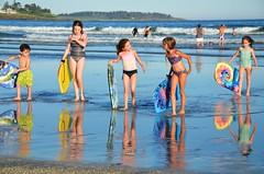 Cousins On The Beach (Joe Shlabotnik) Tags: 2018 july2018 dylans higginsbeach violet boogieboard maine gabriella helent carolina reflection afsdxvrzoomnikkor18105mmf3556ged