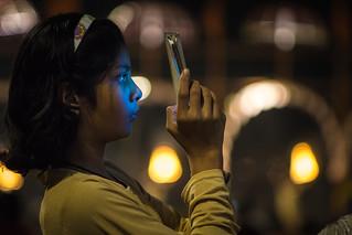 phone glow
