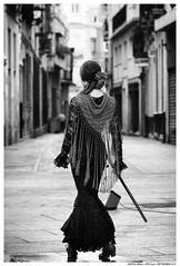 - (Matías Brëa) Tags: mujer flamenco woman girl calle street streetphotography blancoynegro blackandwhite byn bw bnw