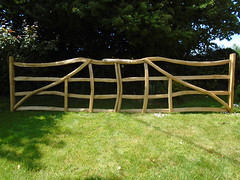 "Chestnut Rustic Double Gates • <a style=""font-size:0.8em;"" href=""http://www.flickr.com/photos/61957374@N08/28168420147/"" target=""_blank"">View on Flickr</a>"