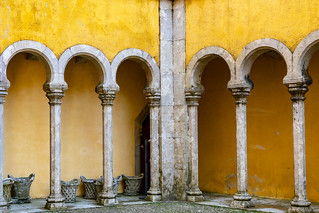 Pena Palace Outdoor courtyard space