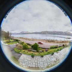 Craiglinnhe House (Courtarro) Tags: ballachulish hdr lochlinnhe scotland fisheye lake