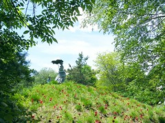 The Girl on the Hill (Stanley Zimny (Thank You for 32 Million views)) Tags: sculpture art light statue groundsforsculpture girl hill flowers