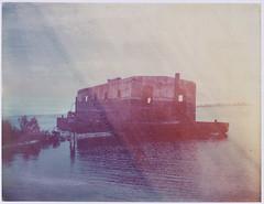 Abandoned Barge (///Brian Henry) Tags: lola sam abandoned barge ship polaroid