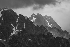 Weather coming in (Stefsan (on and off)) Tags: aiguillesrouges chamonix savoie savoy france mountains alps alpinelandscape landscape clouds rain snow light shadow nature blackandwhite schwarzweiss bw canon eos 7d stefsan ©stefansandmeier