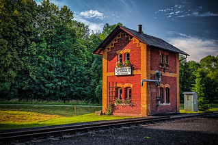 a beautiful old railway keeper's house
