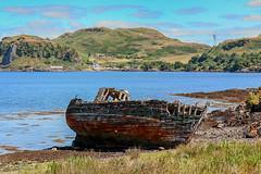 Wrecked on Kerrera (Marion McM) Tags: boat ship shipwreck coast sea seashore hills argyll hdr canoneosm6 landscape scotland island kerrera mountain wood