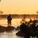 Fisherman on a misty morning_