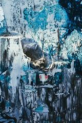 The blue chaos (dono heneman) Tags: blue bleu chaos texture matière béton concrete rouge red peinture painting lumière light blanc white noir black art streetart artistique gruissan aude languedocroussillon occitanie france pentax pentaxart pentaxk3