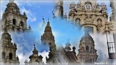 SANTIAGO DE COMPOSTELA (Angelines3) Tags: catedral edificios nwn nubes cielo ciudad collage martesdenubes