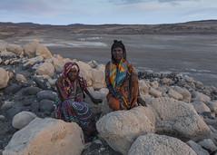 Women from Dibouti, Lake Abbe