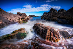 Waves and Clouds (Augmented Reality Images (Getty Contributor)) Tags: nisifilters benro canon coastline landscape longexposure lowtide morayfirth portknockie rocks scotland seascape summer water waves