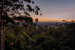 unforgettable (Rafael Zenon Wagner) Tags: dämmerung regenwald schönheit licht atmosphäre dawn rain forest beauty light ambience 28mm evening sundown sonnenuntergang australien australia queensland nikon d810 landschaft baum berg himmel