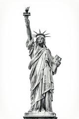 America, July 4th, 2018, New York City (Thomas Hawk) Tags: 4thofjuly america july4thnewyorkcity liberty nyc newyork newyorkcity statueofliberty bw sculpture fav10 fav25 fav50 fav100