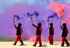 Les Diables (vpickering) Tags: 2018 lesdiables smithsonianfolklifefestival smoke festivals folklifefestival festival