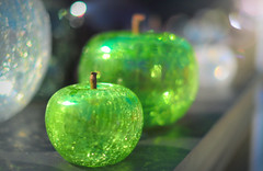 An Apple a Day... (KissThePixel) Tags: apple apples fruit ornament glass glassblowing delicate green greenapple art beauty simplebeauty stilllife bokeh bokehlicious stilllifephotography tabletop tabletopphotography
