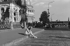 «Sitting on the curb» (2018 World Cup in Russia) (Andrey  B. Barhatov) Tags: moscow russia streetphoto streetnotes filmphotography filmphoto filmtype135 filmfilmforever filmoriginal filmmood filmisnotdead analog barhatovcom sredafilmlab pakonf235 blackandwhite monotone blackandwhiteonly bnw bnwmood bnwfilm bnwdark bwfp bw street streets people monochrome pentaxspotmaticii pentax pentaxart wideangle mcmacrorevuenon28mmƒ35 28mm d76 adoxchs100ii adox contrast mood пленка фотопленка чб чернобелое наблюдатель настроение городскиезаметки город 2018 россия люди девушки girl girls fifa2018worldcupinrussia fifa2018 fifa2018russia чемпионатмирапофутболуfifa2018вроссии