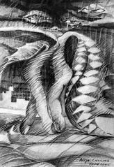 最後一支舞 (alice 240) Tags: artcityartists gallery thelastdance museum 最後一支舞 illustration γράφωμετοφωσ magic modernart visualpoetry visualart expressionism alice240 atelier240art art alicealicjacieliczka contemporaryart artist pencilonpaper dream traditionalart poetry surrealism expression surreal artistic creative