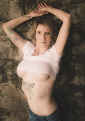 Ivy in the Ruins (Vagabond Jack) Tags: clevage breasts blonde ink jeans