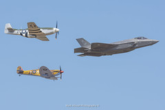 USAF Heritage Flight - F-35 / P-51 / Spitfire (Mark_Aviation) Tags: usaf heritage flight f35 f35a p51 p51d spitfire united states air force riat 2018 riat18 raf100 fairford egva ffd july summer aircraft a airplane airport aviation airbus airlines aerospace aeroplane arriving airshow arrival royal international tattoo
