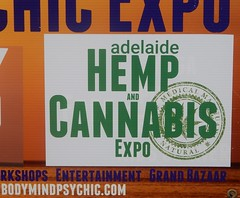 Minds Will Boggle (mikecogh) Tags: grange signs expo cannabis hemp dope drug change
