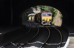 """What's that Smell?"" (powern56) Tags: bristol clifton cliftondown railwaystation railway train freighttrain class66 66075 dbcargo diesellocomotive binliner 6c03 severnbeachline"