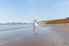 Wedding Shoot, Compton Beach, Isle of Wight - IMG_9340 (s0ulsurfing) Tags: beach beauty in nature coastline colour image compton bay isle wight couple relationship happiness holding hands honeymoon of love emotion married outdoors people photography reflection romance sea summer two uk vertical wedding dress young