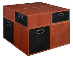 PC4F4HWC-2F2HBK_4 (RegencyOfficeFurniture) Tags: niche regency cubo cubestorage modularstorage modular connecting connectable adaptable custom customizable cube square storageset closet organizer organization furniture cubes expandable home melamine laminate woodtone cherry warmcherry pc4f4hpk pc1211wc black blackstorage blackbins blacktotes htotebk