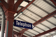 Ring Ring Sign (Geoffrey'sCreations) Tags: telephone telefon station trainstation sign signs pentax pentaxforums pentaxk1 pentaxian pentaxart helios helios44