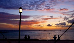 Waikiki Sunset (sembach001) Tags: waikiki waikikibeach hawaii honolulu sunset sunsets panasoniczs100