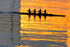 Golden Crew (lloydboy52) Tags: goldencrew golden crew racingshell oars rowing sunrise goldenreflection water morning practice reflection ripples silhouettesaltriver tempetownlake lake river tempe arizona wetreflections morninglight light goldenlight