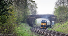Opening up (Mirrorfinish) Tags: class37 37601 eetype3 train railway engine locomotive heritagediesel whitacrejunction hogrillsend warwickshire england