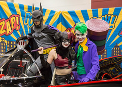 Batman, Harley Quinn, Joker (irrational.photography) Tags: cos play cosplay anime japan comic book comicbook convention costume movie tv show dress up mascarade masquerade