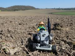 frisch gepflügt (captain_joe) Tags: toy spielzeug 365toyproject lego minifigure minifig moc car auto trecker tractor lanz bulldog lanzbulldog series15 farmer acker field raisdorf