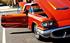 Beautiful Ford Thunderbird (1960) (delmarvausa) Tags: carshow orange ford thunderbird 1960 sixties fordthunderbird orangecars carsofthe60s thecolororange oldford tbird 1960s orangeford 1960fordthunderbird 1960tbird thingsthatareorange sbymd salisburymaryland salisburymd delmarvacarshows maryland easternshore marylandcarshow delmarvapeninsula wicomicocountymd