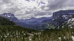 Logan's Pass, Glacier N. P. (punahou77) Tags: loganspass glaciernationalpark nature nationalpark nikond500 nikon landscape landmark punahou77 park pines clouds stevejordan scenic sky stormclouds roadtrip valley