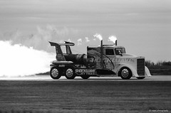 Shockwave Jet Truck (dpsager) Tags: airshow2017 bw cleveland clevelandnationalairshow dpsagerphotography eos1v film ilfordfp4 ohio shockwavejettruck